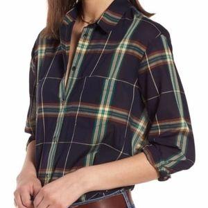 Madewell Oversize Ex Boyfriend Plaid Shirt Size M